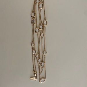 Kate Spade Crystal Necklace in Gold